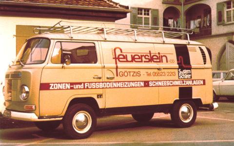 Anfänge Dorfinstallateur Bus Feuerstein Götzis