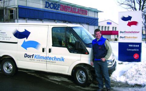 Dorfinstallateur Team Klimatechnik Andreas Amann Firmenbus