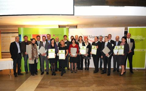 Auszeichnung Familienfreundliche Betrieb Dorfinstallateur Vorarlberg