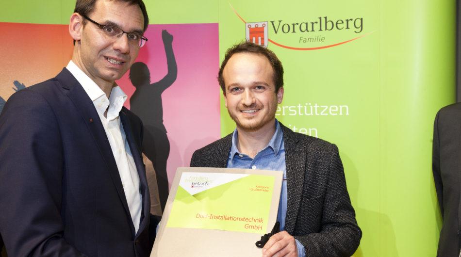 Dorfinstallateur Ausgezeichneter Familienfreundlicher Betrieb Markus Wallner Samuel Feuerstein