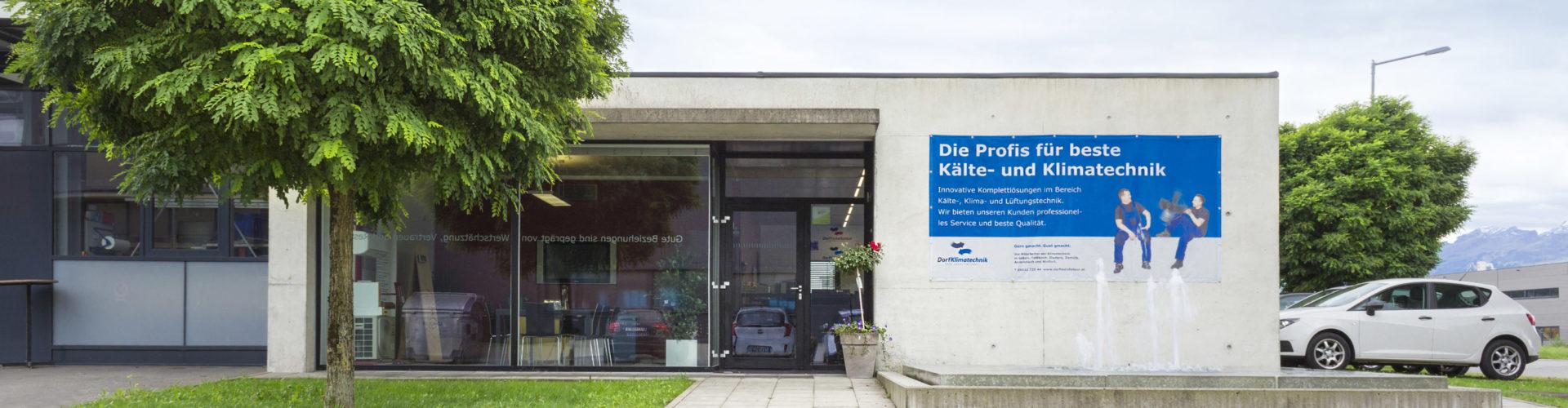 Gebäude Dorfinstallateur Standort Feldkirch Klimatechnik