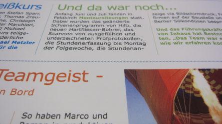 Zeitung Dorfinstallateur