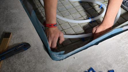 Fußbodenheizung Dusche bei Referenz Dorfinstallateur arlberg1800 Chalet