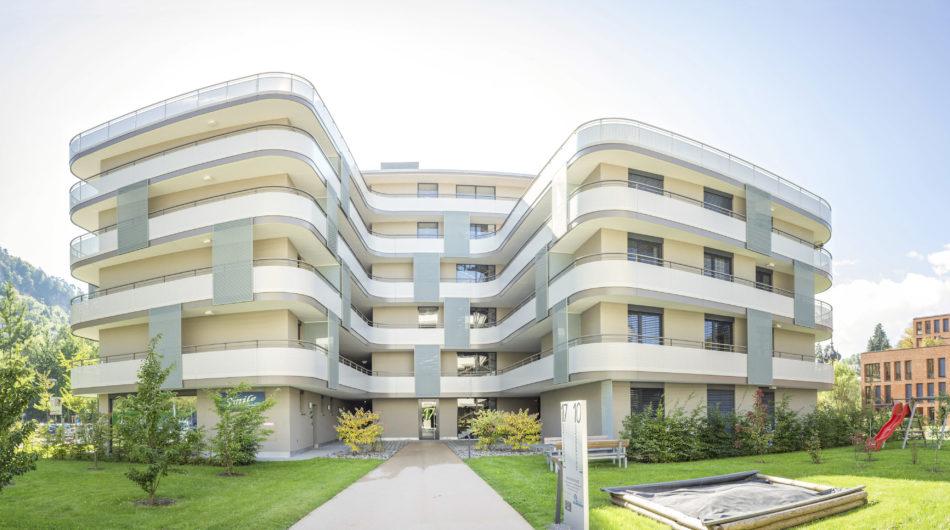 Wohnanlage Wichnerpark Feldkirch Referenz Dorfinstallateur