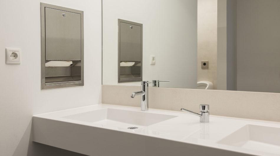 Referenz Mehrzweckgebäude Buch Vorarlberg Sanitär Waschbecken