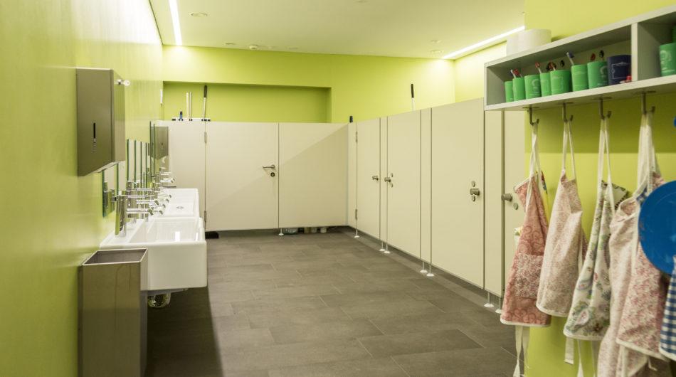 Referenz Mehrzweckgebäude Buch Vorarlberg Sanitäranlagen Toiletten